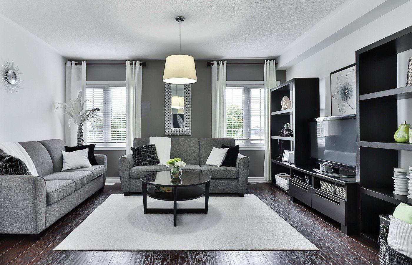 Beautiful modern monochrome home interior