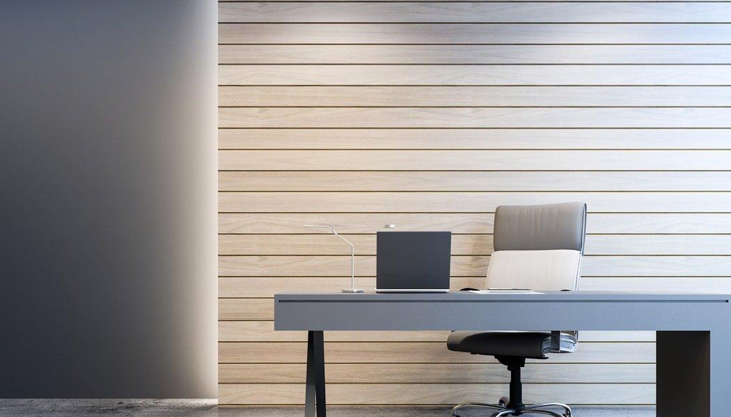 Garage office in a minimalist style
