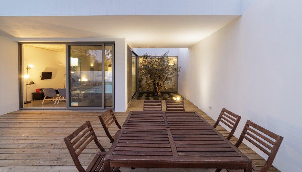 Deck on a modern house