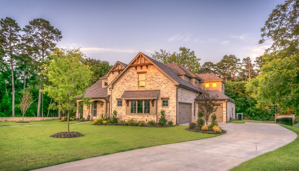 House with landscaping