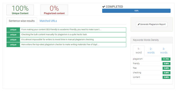 Check-plagiarism.com screenshot