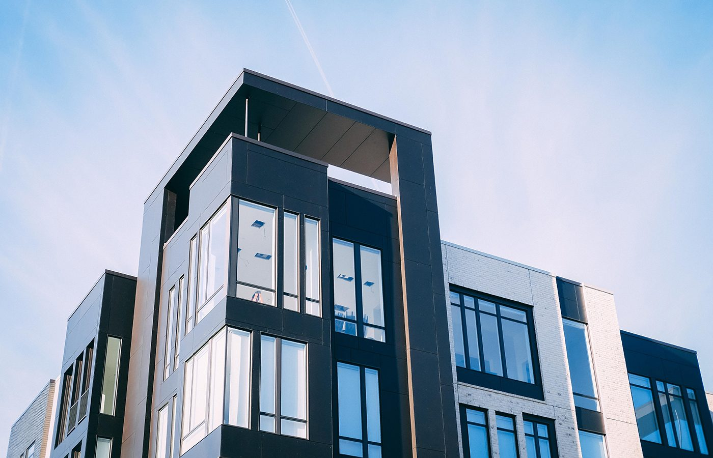 Penthouse of condo building